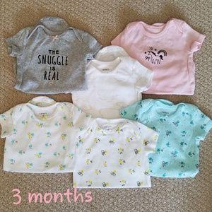 Six carter's onesies - 3 months